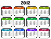 Calendar for 2012 year — Stock Photo