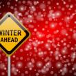 ruch naprzód zima znak śnieg tło — Zdjęcie stockowe