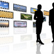 Multimedia center business presentation — Stock Photo