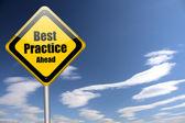 Mejor cartel de práctica — Foto de Stock
