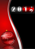 New year illustration with counter and christmas ball — Stock Photo