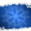 Blue christmas background with snowflakes — Stock Photo #7569799