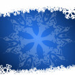 Stock Photo: Blue christmas background with snowflakes