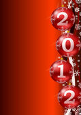 Ney year 2012 background with christmas balls — Stock Photo