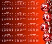 2012 year calendar — Stock Photo