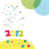 New Year 2012 card — Stockvektor