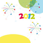 New Year 2012 card — Stock Vector
