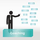 figure explain Coaching concept- concept abstract background — Stock Vector