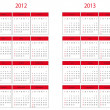 Royalty-Free Stock Photo: Calendar 2012 and 2013 start on Sunday