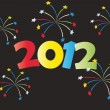 Stock Photo: New Year 2012 card