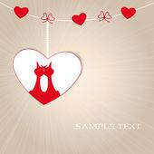 Tarjeta linda del día de san valentín — Vector de stock