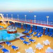 Open deck on a beautiful cruiseship — Stock Photo #6819029