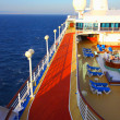 Stock Photo: Open deck on a beautiful cruiseship