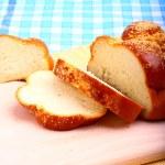 Sweet baked bread challah — Stock Photo