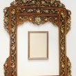 wooden mirror — Stock Photo