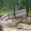 Stock Photo: Bridge after flooding