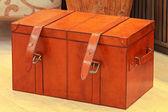 Leather trunk — Stock fotografie