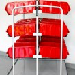 Red inventory trolley — Stock Photo #7034045