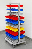 Colourful workshop cart — Stock Photo