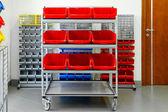 Inventory shelf — Stock Photo