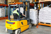 Forklift logistic — Stock Photo