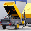 Stock Photo: Mobile air compressor