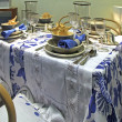 Stock Photo: Dinning room detail