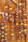 Dried orange slices Christmas — Stock Photo