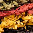 Tagliatelle three colors — Stock Photo