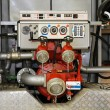 Fire engine pump - Stock Photo