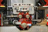 Pożar silnika pompy — Zdjęcie stockowe