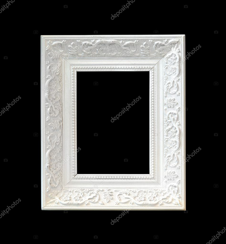 White wooden frame isolated with clipping path included — Stock Photo #7780708