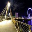 Embankment bridge night — ストック写真