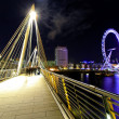 Embankment bridge night — Stock Photo