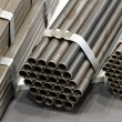 Steel pipes - Stock Photo