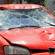 Broken windscreen — Stock Photo