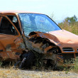 Crushed small car — Stock Photo #7921421