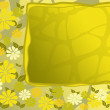 Yellow flower frame — Stock Photo
