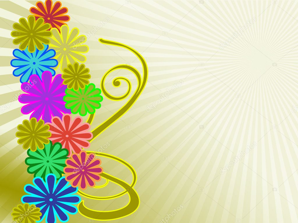 Flowers background — 图库照片 #6962643