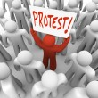 Stock Photo: Demonstration MHolds Protest Sign Movement for Change