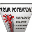 Your Potential Measured Will You Reach Your Full Success — Stock Photo