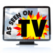 As Seen on TV - High Definition Television HDTV — Stock Photo #7653480