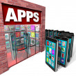Royalty-Free Stock Photo: Apps Store - Mobile Smart Phones Buying Applications