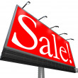Sale Word Outdoor Advertising Billboard Clearance Special Price — Stock Photo