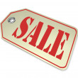 Sale Tag - Special Clearance Prices Cost Less During Store Savin — Stock Photo