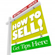 Stock Photo: Home for Sale Sign - How to Sell Advice Information
