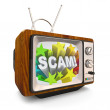 Scam Infomercial Deceptive Marketing Commercial Old TV - Stock Photo