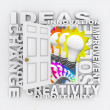 Ideas Innovation and Inventino Door for New Solutions - Stock Photo