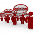 Stock Photo: Many Sharing Opinions Critics Talking Word Opinion