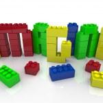 Imagine Word in Toy Plastic Blocks Idea Creativity — Stock Photo